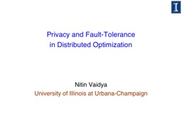 Privacy and Fault-Tolerance