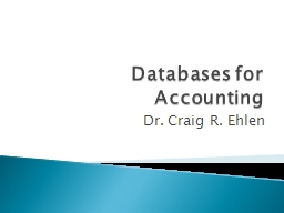 Databases for Accounting
