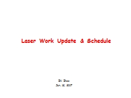 Laser Work  U pdate & Schedule PowerPoint PPT Presentation