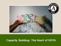 Capacity Building: The Heart of VISTA
