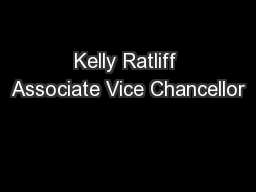 Kelly Ratliff Associate Vice Chancellor
