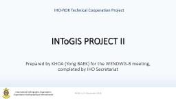 IHO-ROK Technical Cooperation Project PowerPoint PPT Presentation