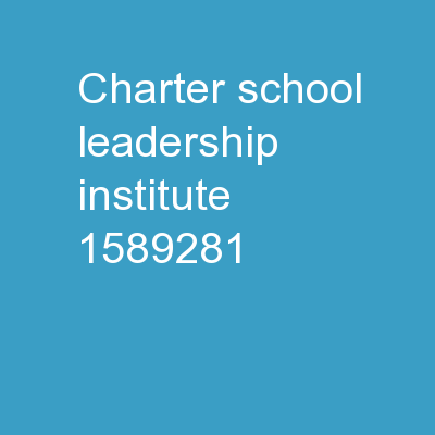 Charter School Leadership Institute