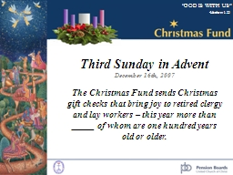 Third Sunday in Advent December 16th, 2007 PowerPoint PPT Presentation