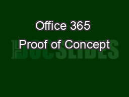 Office 365 Proof of Concept