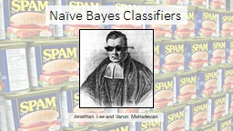 Na�ve Bayes Classifiers