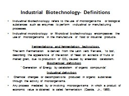 Industrial  Biotechnology-
