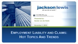 1 Employment Liability and Claims: