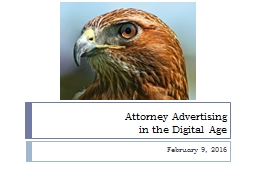 Attorney Advertising in the Digital Age
