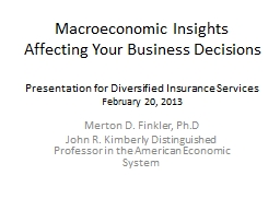 Macroeconomic Insights Affecting Your