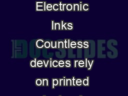 Henkels Printed Electronic Inks   Printed Electronic Inks Countless devices rely on printed electronic technologies for function form and flexibility