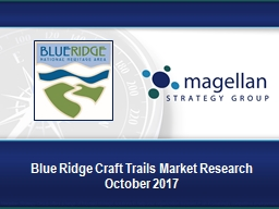 Blue Ridge Craft Trails Market Research