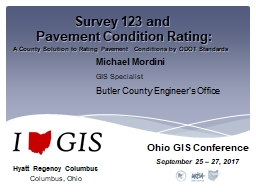 Survey 123 and  Pavement Condition Rating: