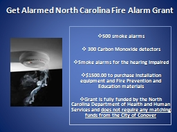Get Alarmed North Carolina Fire Alarm Grant