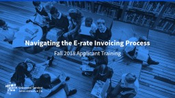 Navigating the E-rate Invoicing Process