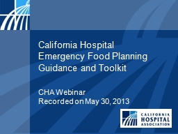 California Hospital  Emergency PowerPoint PPT Presentation