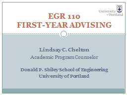 Lindsay C. Chelton Academic Program Counselor