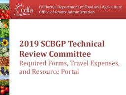2019 SCBGP Technical Review Committee