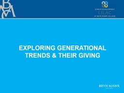 exploring generational trends & their giving