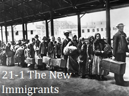 21-1  The New Immigrants