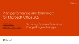 Plan performance and bandwidth for Microsoft Office 365