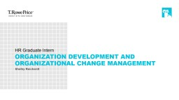 HR Graduate Intern Organization Development and Organizational Change management