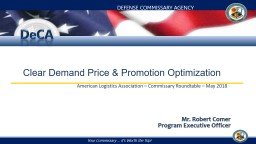 Clear Demand Price & Promotion Optimization