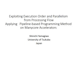 Exploiting Execution Order and