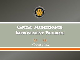 Capital Maintenance Improvement Program
