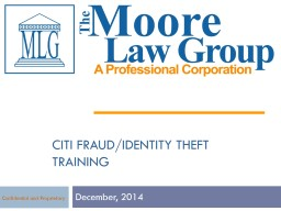 Citi fraud/identity theft  TRAINING