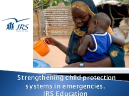 Strengthening child protection systems in