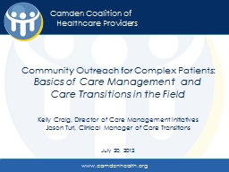 Community Outreach for Complex Patients: