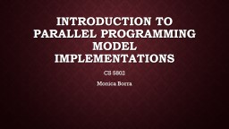 Introduction to parallel programming PowerPoint Presentation, PPT - DocSlides