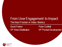 From User Engagement to Impact: