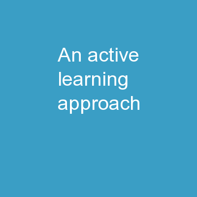 An Active Learning Approach