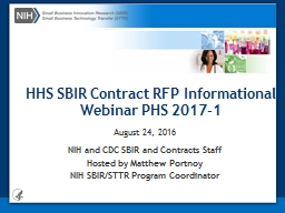 HHS SBIR Contract RFP Informational