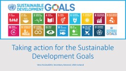 Taking action for the Sustainable Development Goals