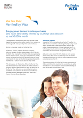Visa Case Study Verified by Visa Bringing down barrier