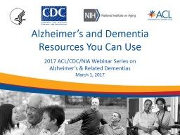 Alzheimer�s and Dementia Resources You Can Use