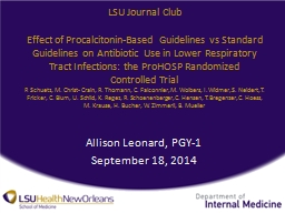 LSU Journal  Club Effect of
