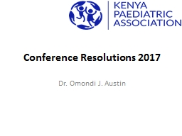 Conference Resolutions 2017
