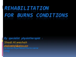 Rehabilitation  for Burn