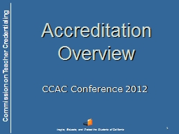 1 Accreditation Overview