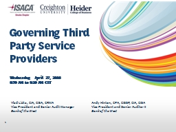 Governing  Third Party  Service Providers