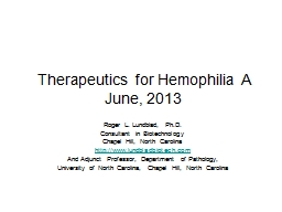 Therapeutics for Hemophilia A
