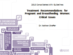 HIV/AIDS DEPARTMENT 2013 Consolidated ARV Guidelines