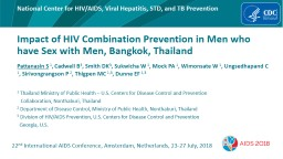 Impact of HIV Combination Prevention in Men who have Sex with Men, Bangkok, Thailand