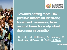 Towards getting more HIV-positive infants on lifesaving treatment: assessing