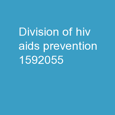 Division of HIV/AIDS Prevention