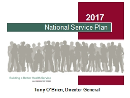 National Service Plan  2017